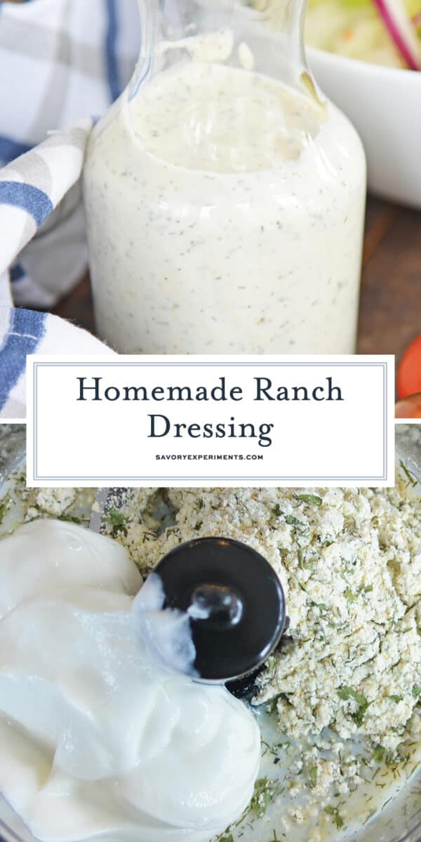 Homemade Ranch Dressing for Pinterest