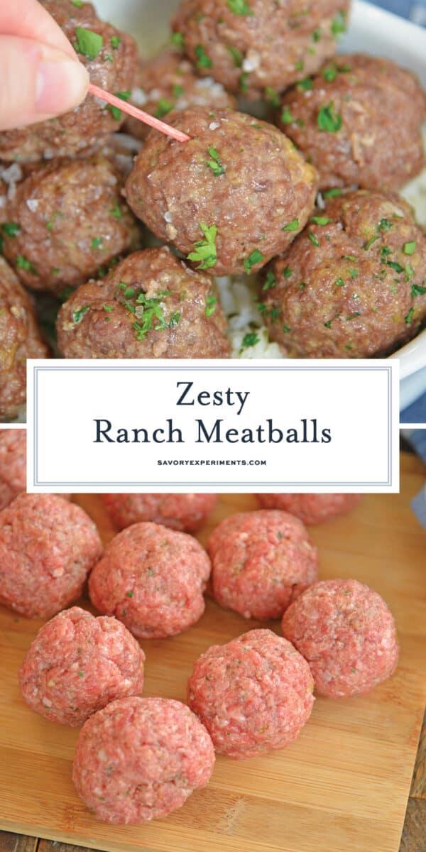 ranch meatballs for Pinterest