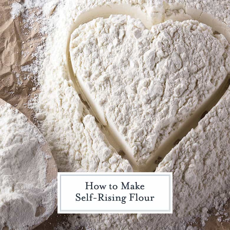 Flour drawn into a heart