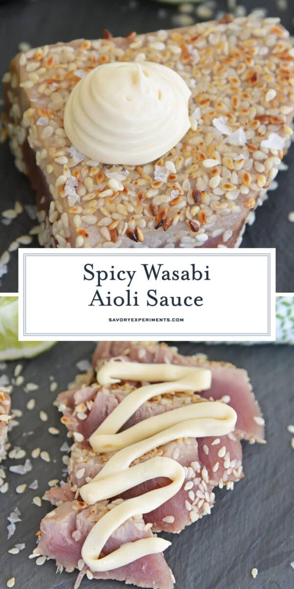 spicy wasabi aioli sauce for pinterest