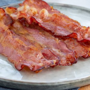 A close up of  Bacon