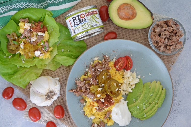 low carb breakfast tacos with breakfast bowl