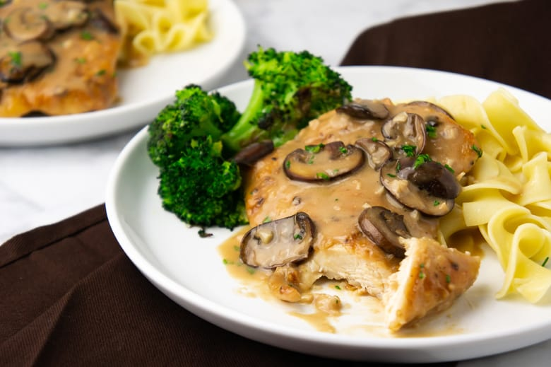 cut chicken breast with marsala sauce