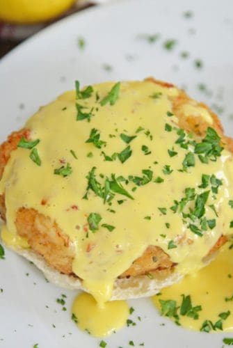 hollandaise crab cakes