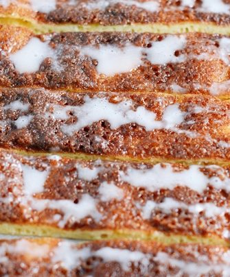 iced cinna-sticks close up