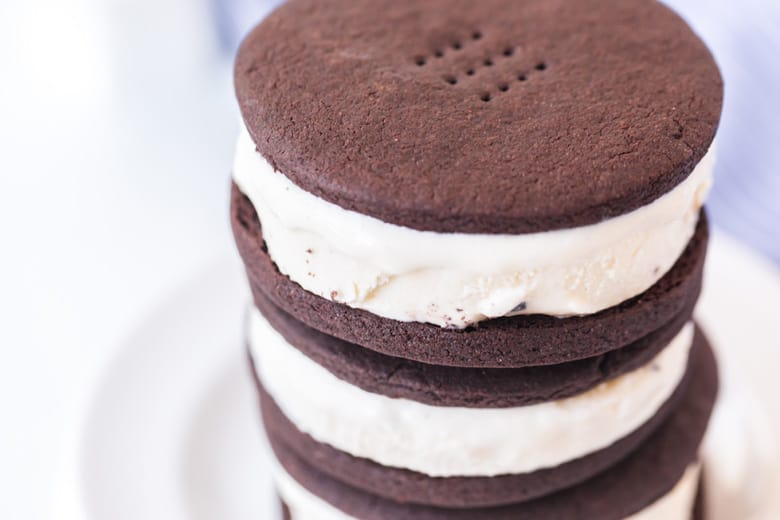 angle view of ice cream sandwiches