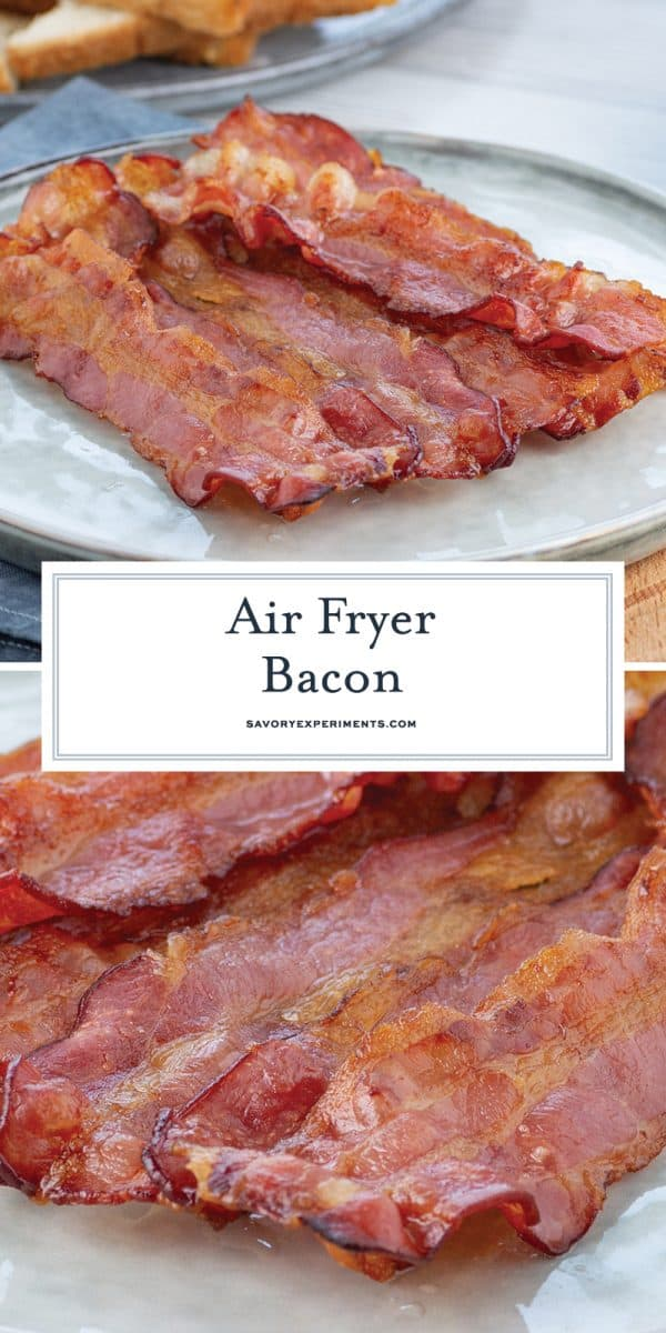 air fryer bacon for pinterest