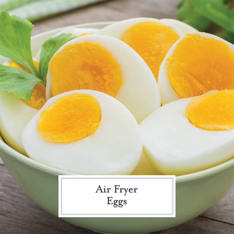 Close up of soft boiled air fryer eggs