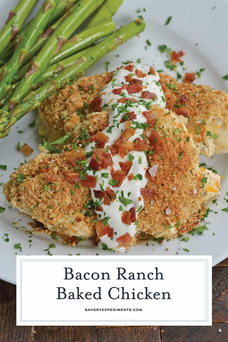 ranch mayo chicken on a serving platter
