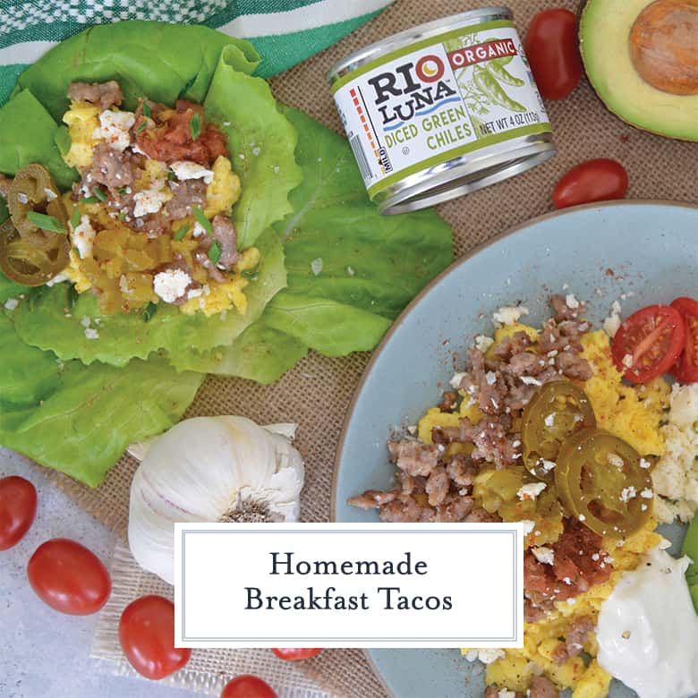 Low carb breakfast tacos with lettuce