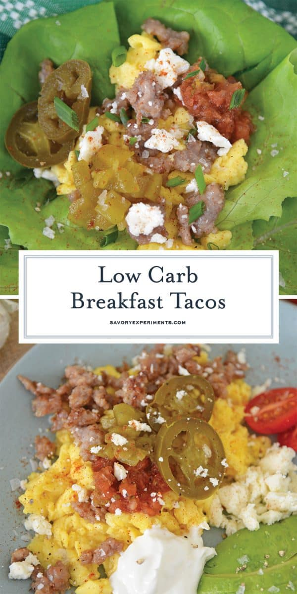 low carb breakfast tacos for pinterest