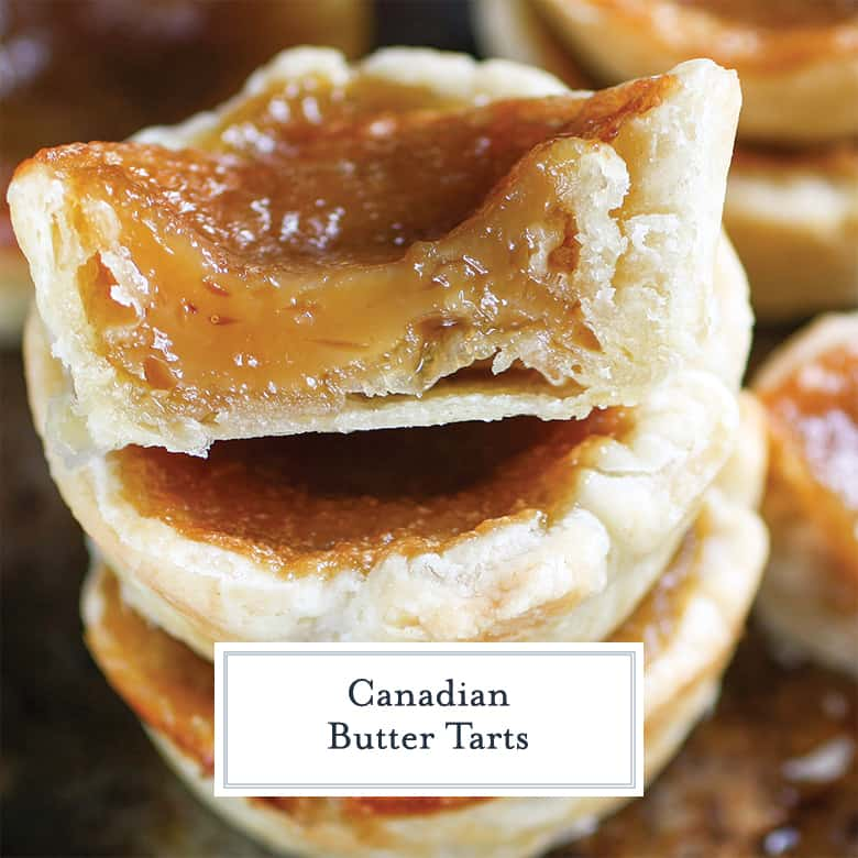 Canadian Butter Tart cut in half