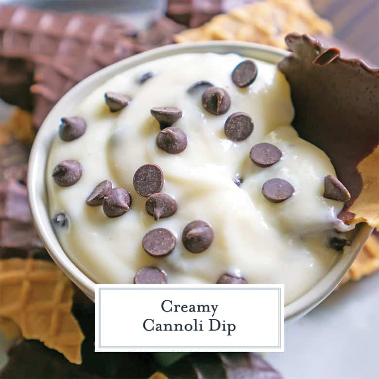 creamy cannoli dip with chocolate chips