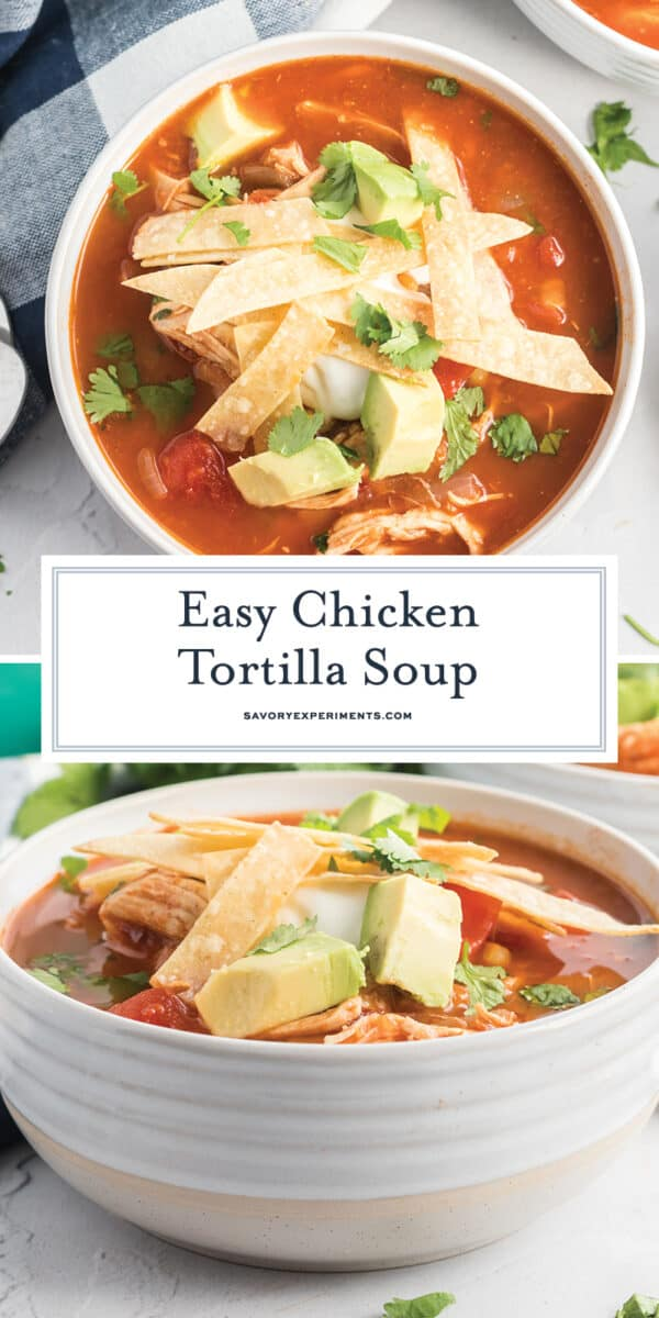easy chicken tortilla soup for pinterest