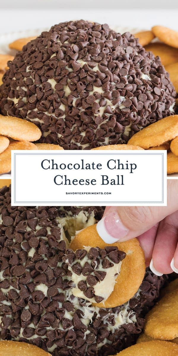 chocolate chip cheese ball for Pinterest