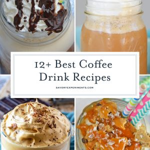 collage of coffee drink recipes