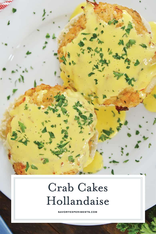 crab cakes hollandaise for pinterest