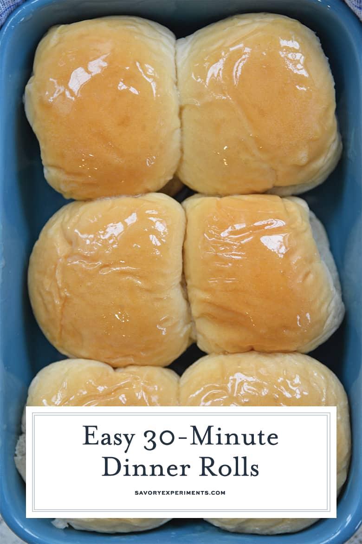 Buttery homemade dinner rolls for pinterest