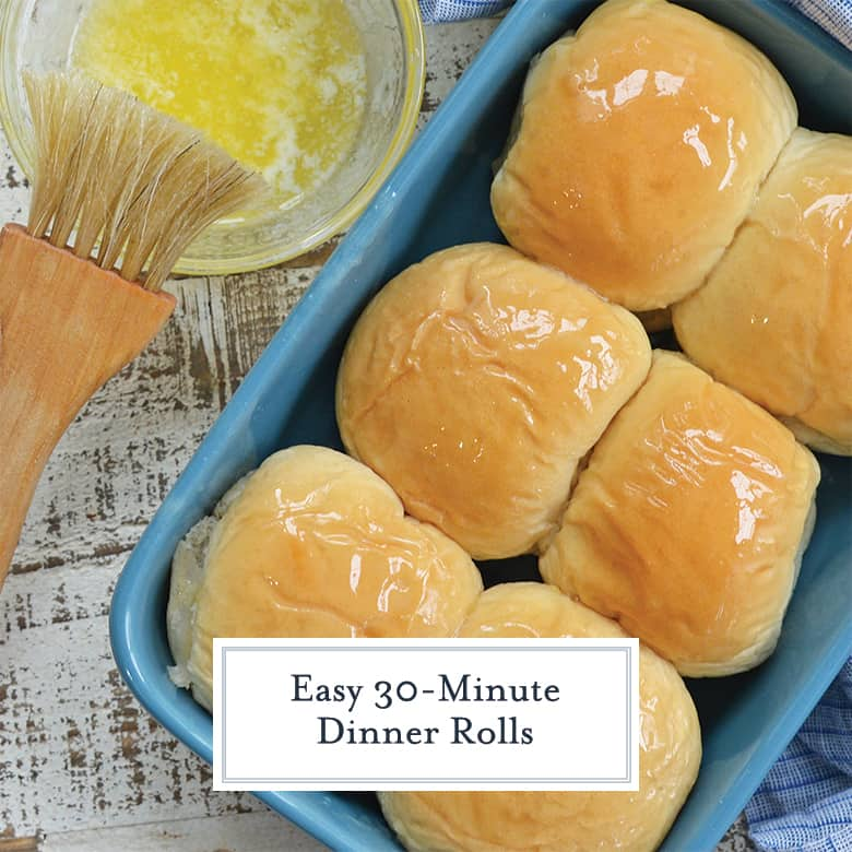 easy dinner rolls in a baking dish