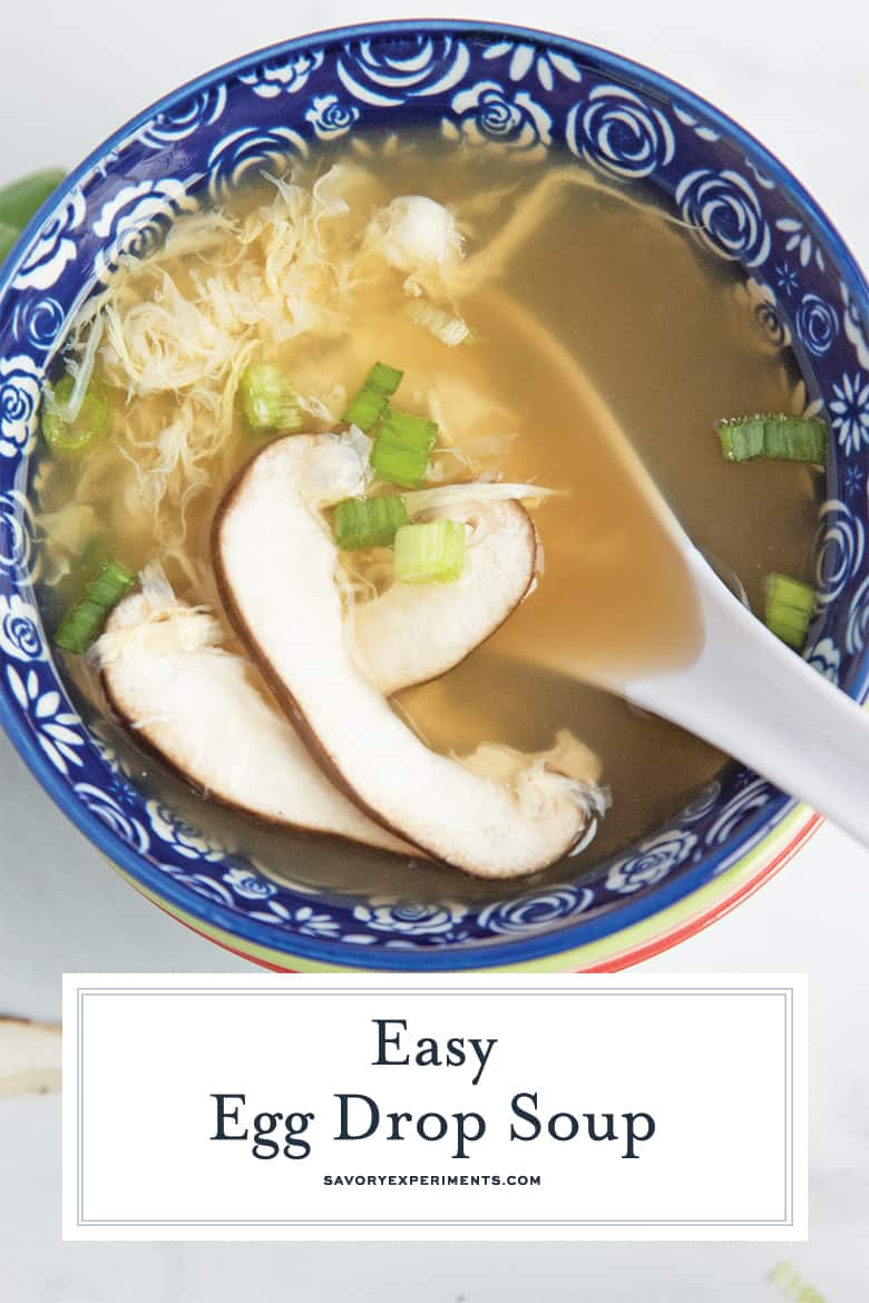 mushroom egg drop soup for pinterest
