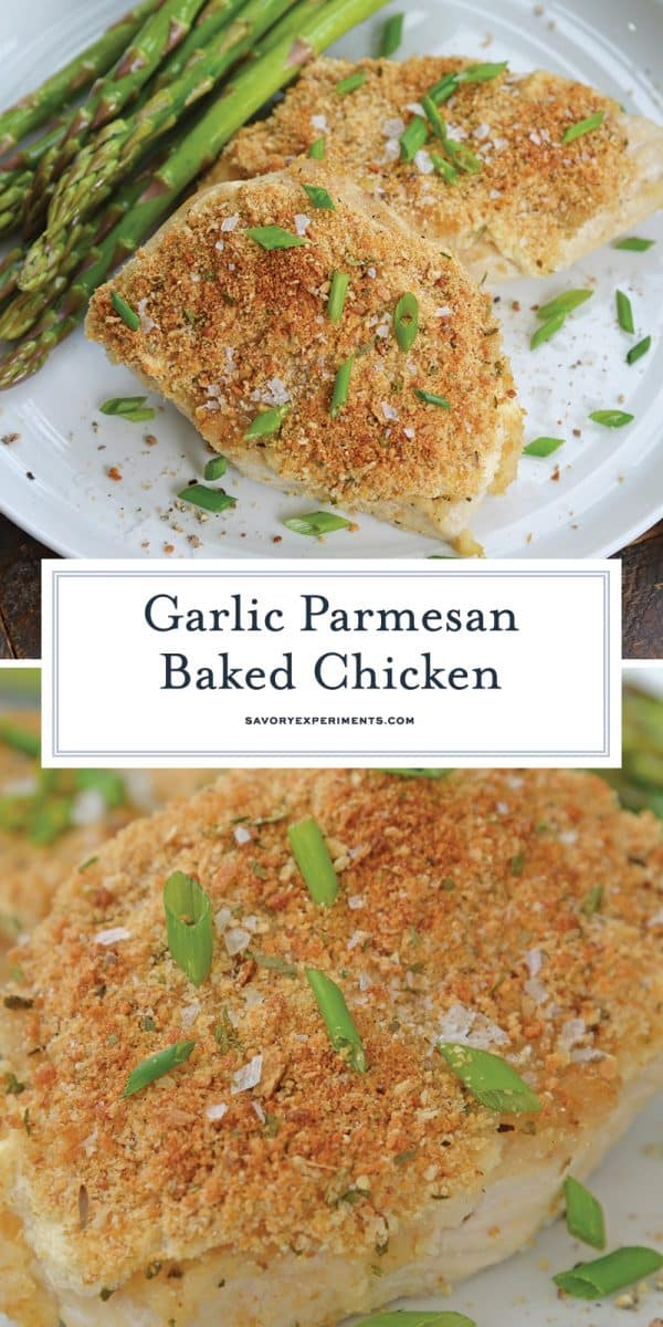 Baked Garlic Parmesan Chicken for Pinterest