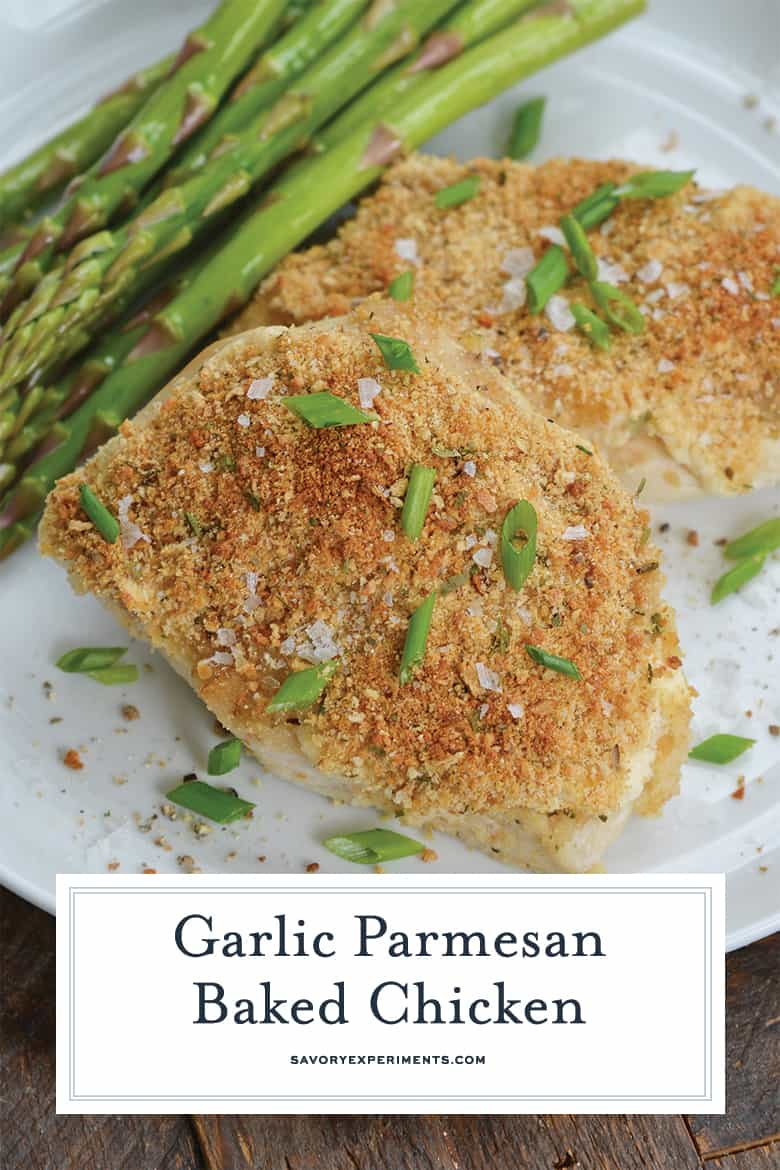 Parmesan crusted chicken for Pinterest