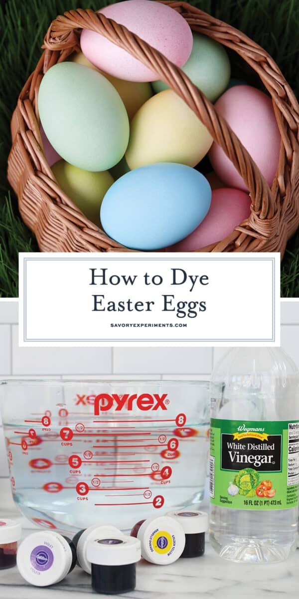 How to dye easter eggs with food coloring for Pinterest