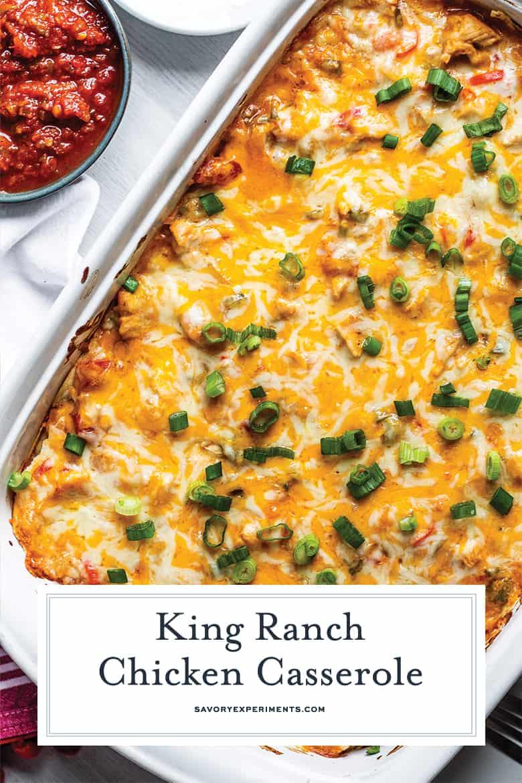 cheesy king ranch chicken casserole for pinterest
