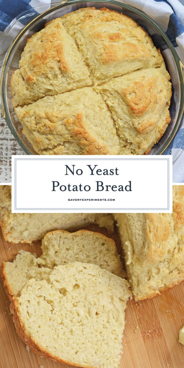 no yeast potato bread for pinterest
