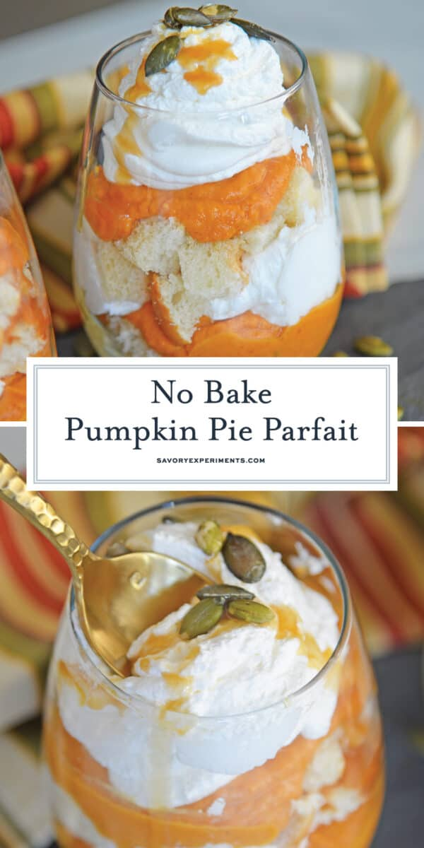no bake pumpkin pie parfait for Pinterest
