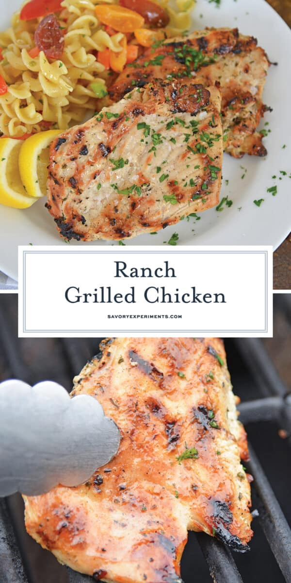 ranch grilled chicken for Pinterest