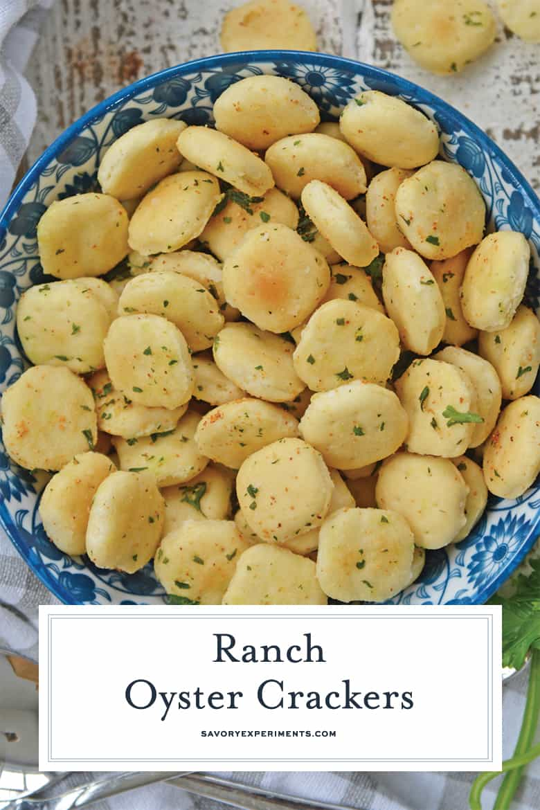 Close up of Ranch oyster crackers