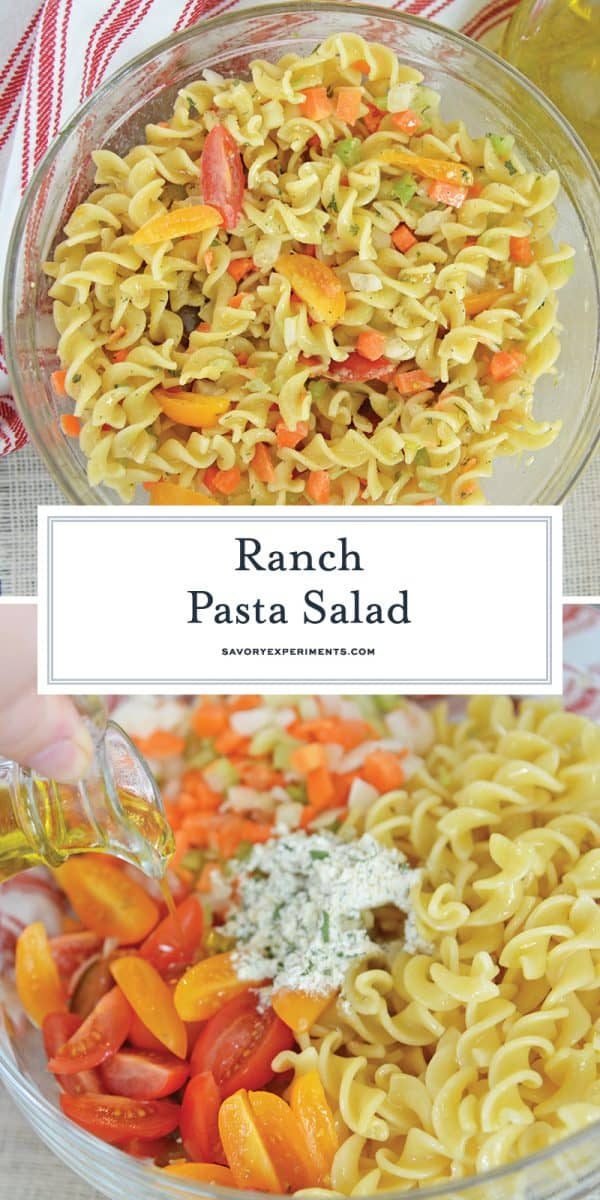 Ranch pasta salad for Pinterest