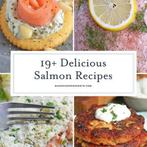 collage of best salmon recipes