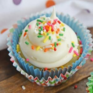 small batch white cupcakes