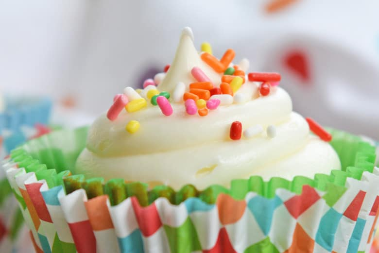 close up of cupcake frosting