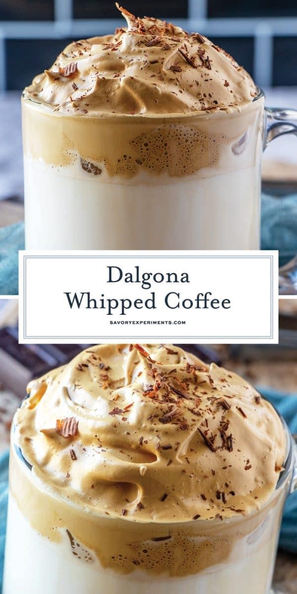 dalgona whipped coffee for pinterest