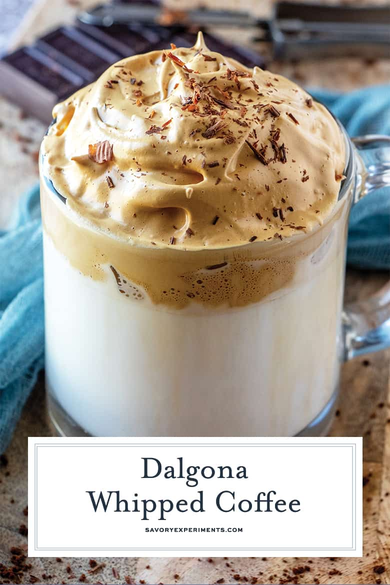 Dalgona coffee for pinterest