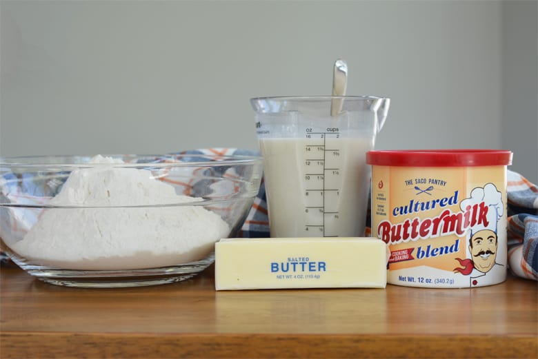 ingredients for butter swim biscuits