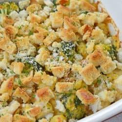corner of broccoli chicken casserole