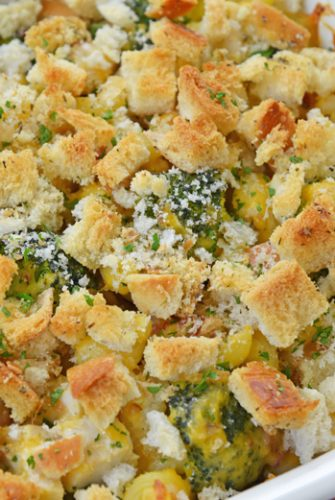 corner of broccoli chicken casserole
