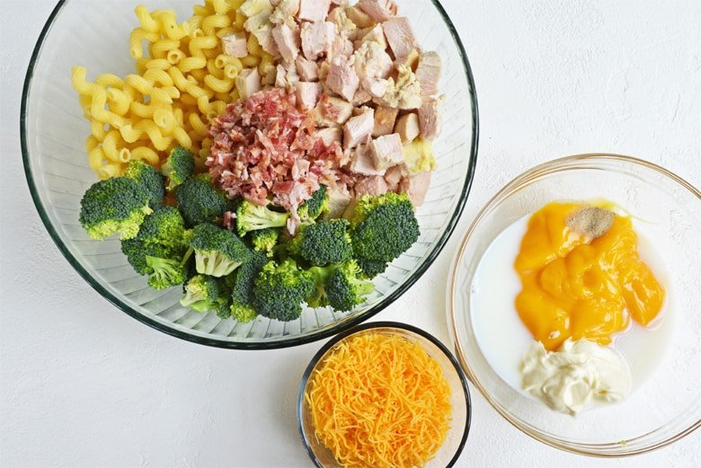 ingredients for chicken broccoli casserole