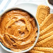 a bowl of cookie butter