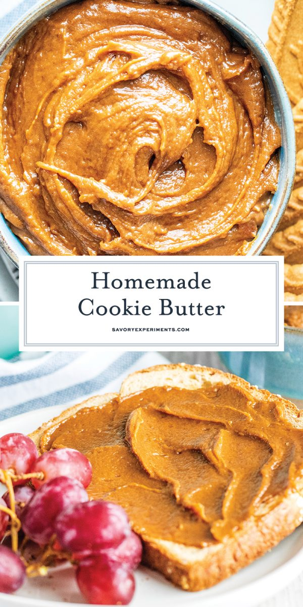 homemade cookie butter for Pinterest