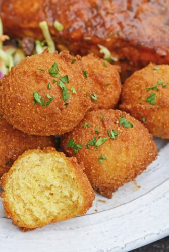 close up of hush puppies