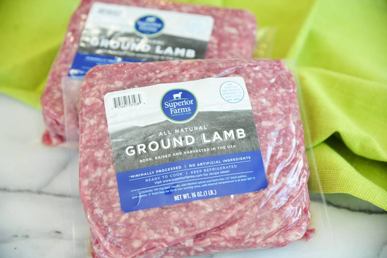 Superior Farms Lamb packaging