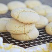 lemon sugar cookies in a pile