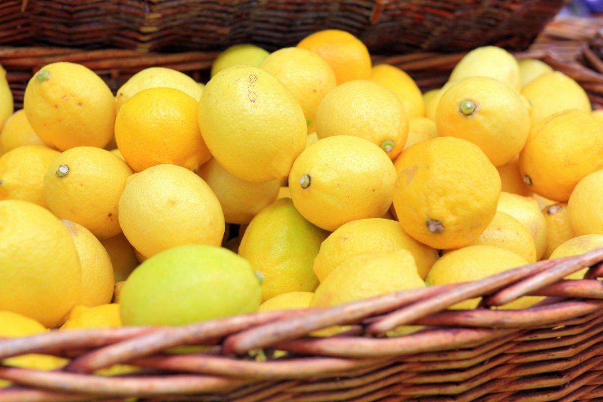 basket of fresh lemons