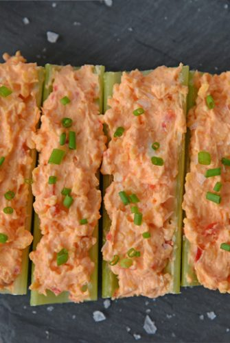 celery stuffed with pimento cheese