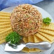 nut crusted cheese ball